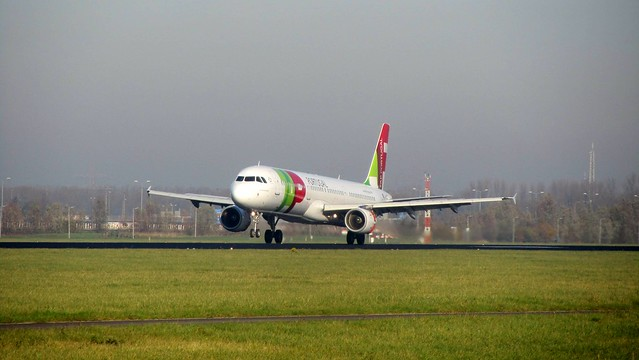 TAP Portugal Airbus A321 at Amsterdam Schiphol Airport