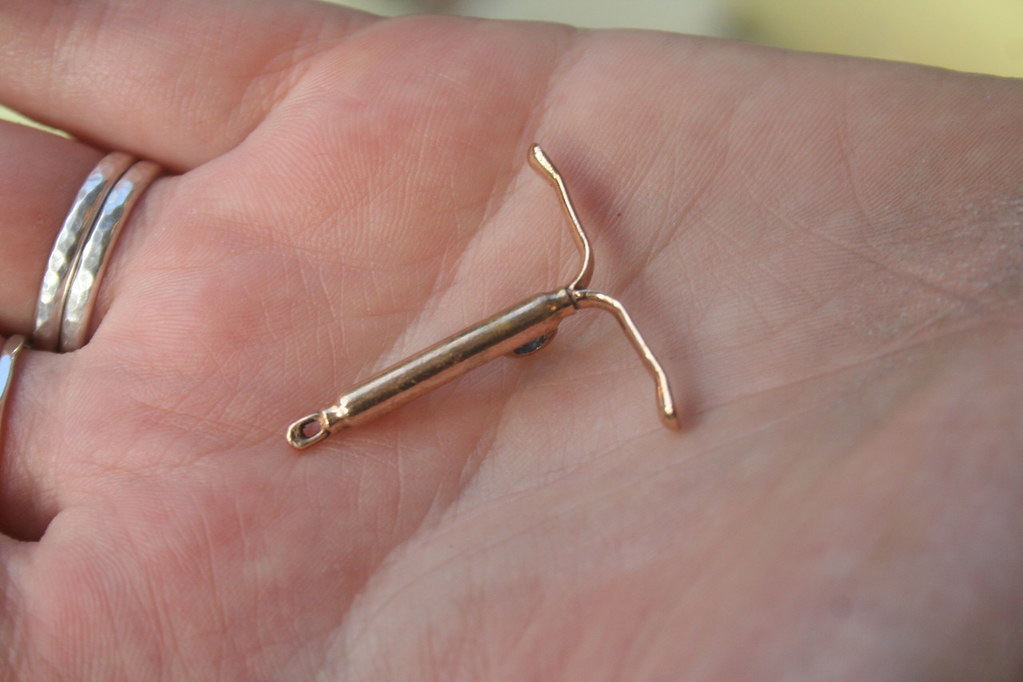 a bronze cast of an IUD