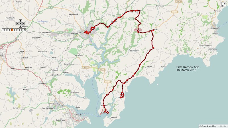 First Kernow Route-550 Map-16March2015