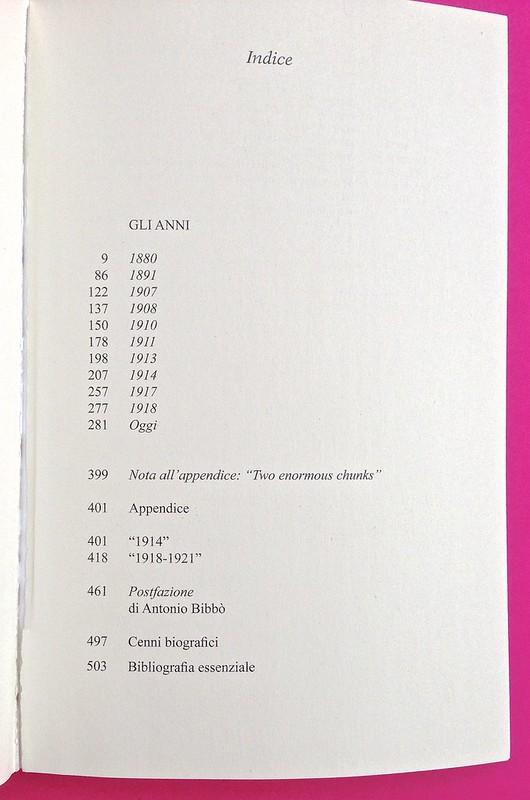Gli anni, di Virginia Woolf. Feltrinelli 2015. Art dir.: Cristiano Guerri; alla cop.: ill. col. di Carlotta Cogliati. Indice, a p. 511 (part.), 1