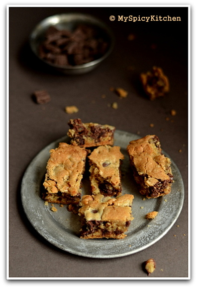 Barefoot Contessa recipe blondies in a plate