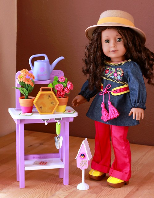 American Girl Sunshine Gardening Bench