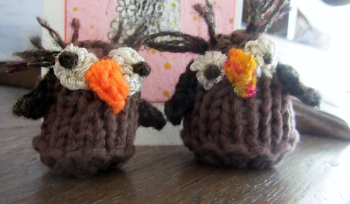 Birds of the knitted variety