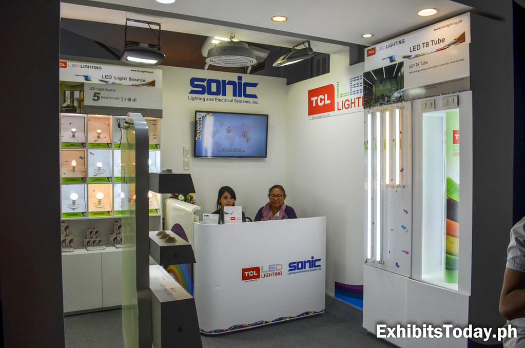 Sonic Lighting & Electrical Systems Exhibit Booth (side view)