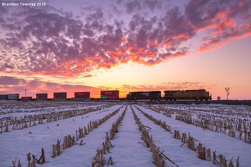 railroad sunset snow ns trains unionpacific norfolksouthern