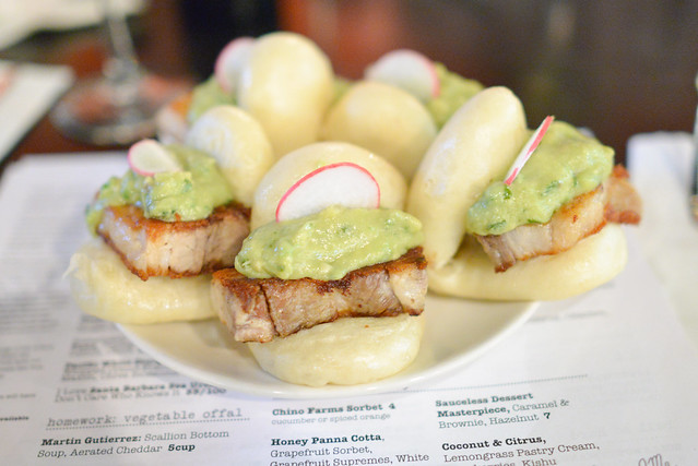 Kurobuta Pork Belly Steam Bun Guacamole, Radish