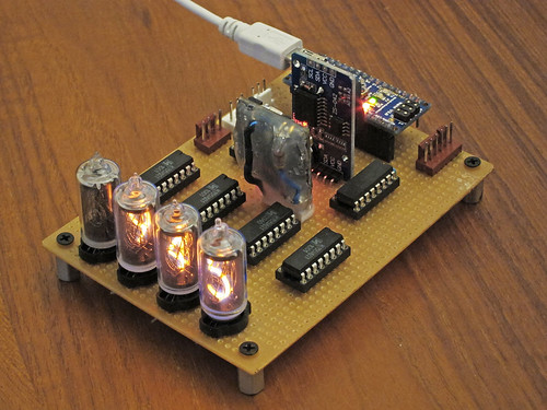 Four Digit Nixie Display