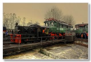 Bochum - Eisenbahnmuseum Dahlhausen Rangierarbeit E-Lok E04-11
