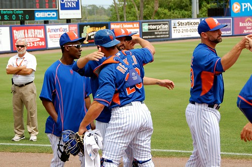 Anthony Recker giving hugs