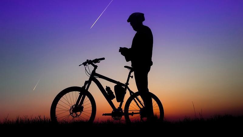 Biker & sunshine