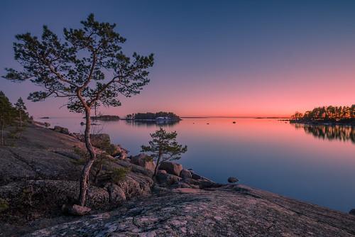 pink blue sunset evening nikon nikkor jyrki d600 1635mm salmi mussalo