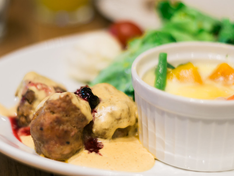 Meatballs at Moomin Bakery and Café.