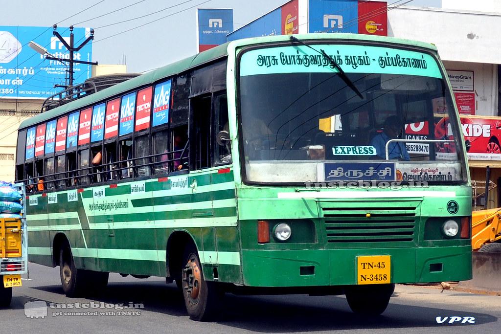 TN-45N-3458 of Jayankondam Depot Route Jayankondam - Coimbatore via Poyyur, Trichy, Karur, Kangeyam, Palladam
