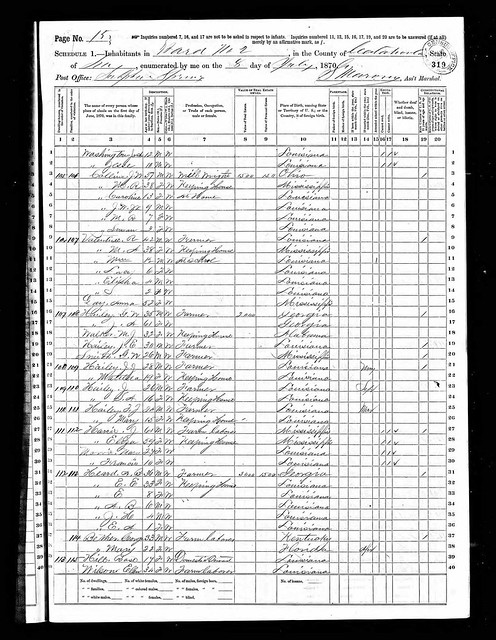Sophronia Valentine 1870 census