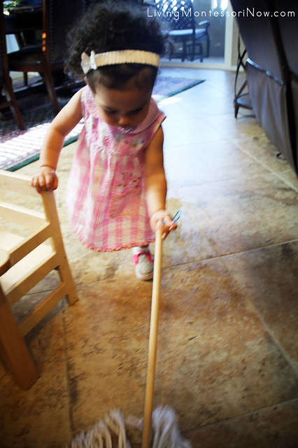 Mopping the Floor at 16 Months Old