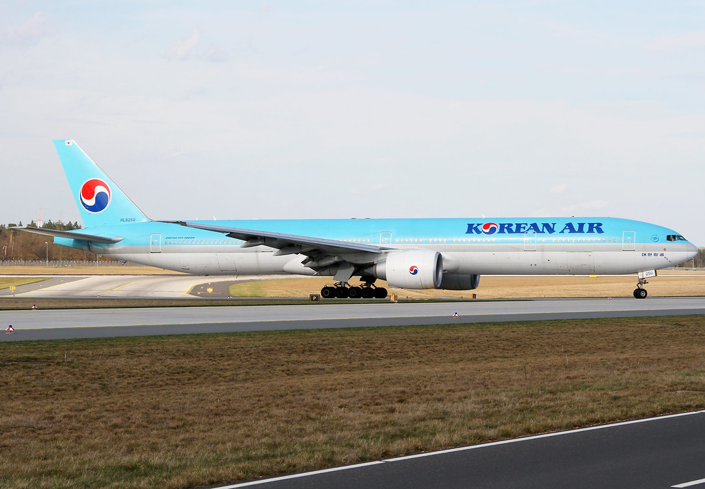 KE905 from Seoul ICN vacating RWY25R after landing. Delivered 06/2012