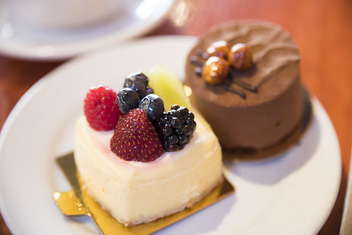 Cheesecake and Chocolate Praline Mousse, Thorough Bread and Pastry, San Francisco