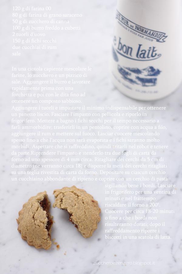 Biscotti farciti ai fichi