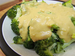 Broccoli with 'Cheese' Sauce