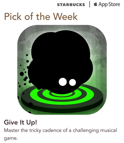 Starbucks iTunes Pick of the Week - Give It Up!