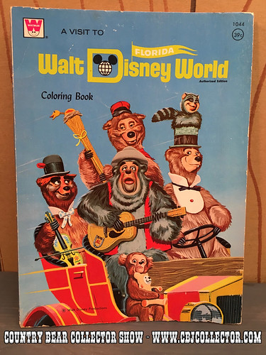 Vintage Whitman 1972 Walt Disney Would Coloring Book - Country Bear Jamboree Collector Show #047