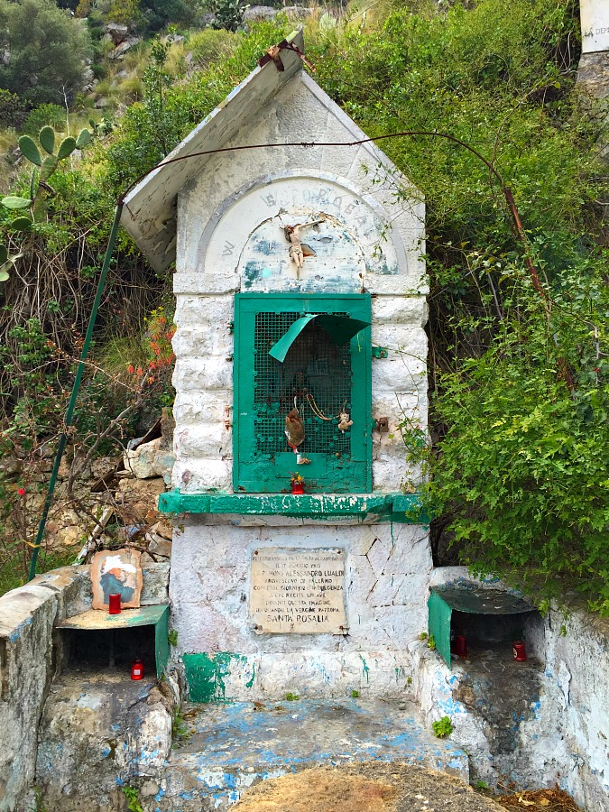 Shrine on the path up Mount Pellegrino