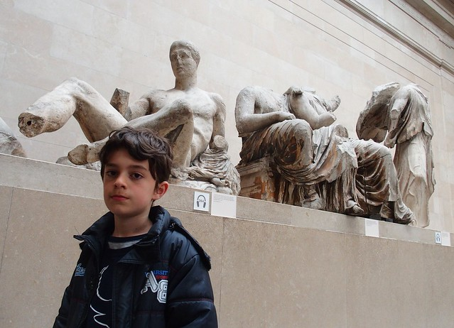 Eoin at the Parthenon Sculptures, British Museum
