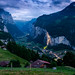 Lauterbrunnen at dusk by thriddle