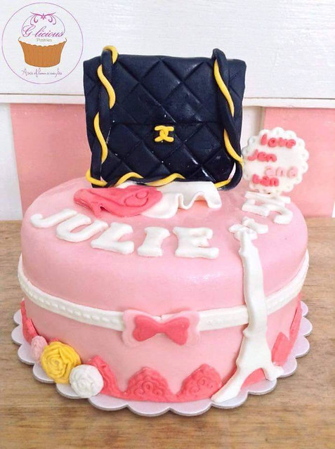 Chanel Inspired Cake by Janessa Ferrer of The Blue Cup Cafe