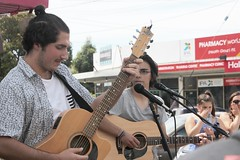 Some beautiful songs for Guitar by this duet at Fawkner piazza
