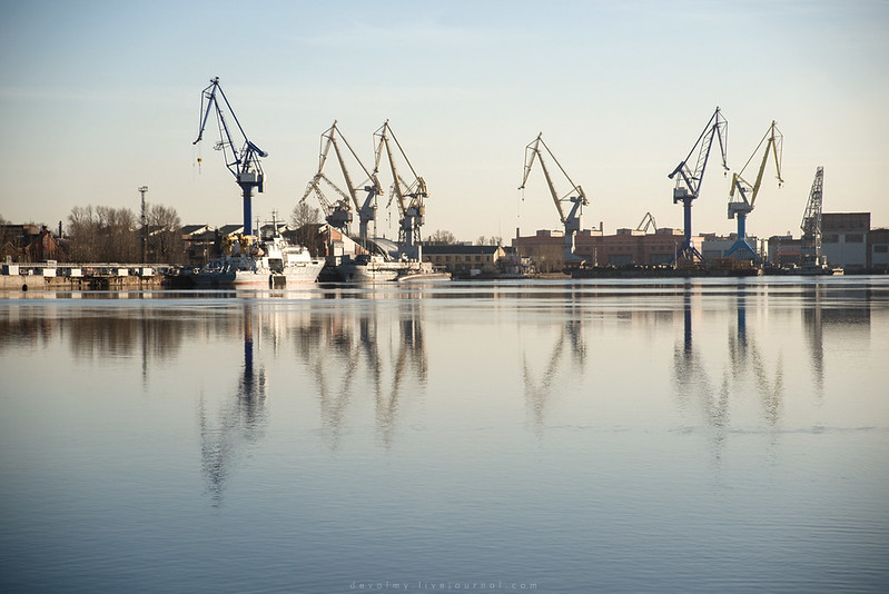 The view of St. Petersburg Admiralty Shipyard