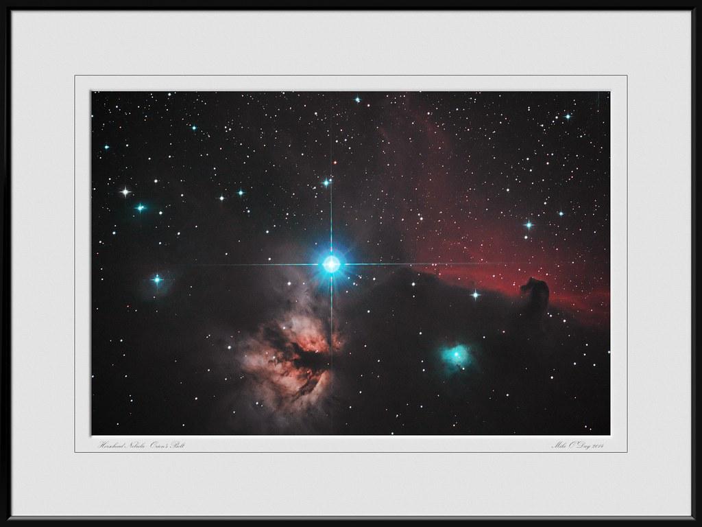 Alnitak plus Flame & Horse-head Nebula