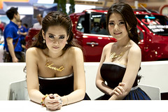 Sexy presenters for Chevrolet at the 36th Bangkok International Motor Show