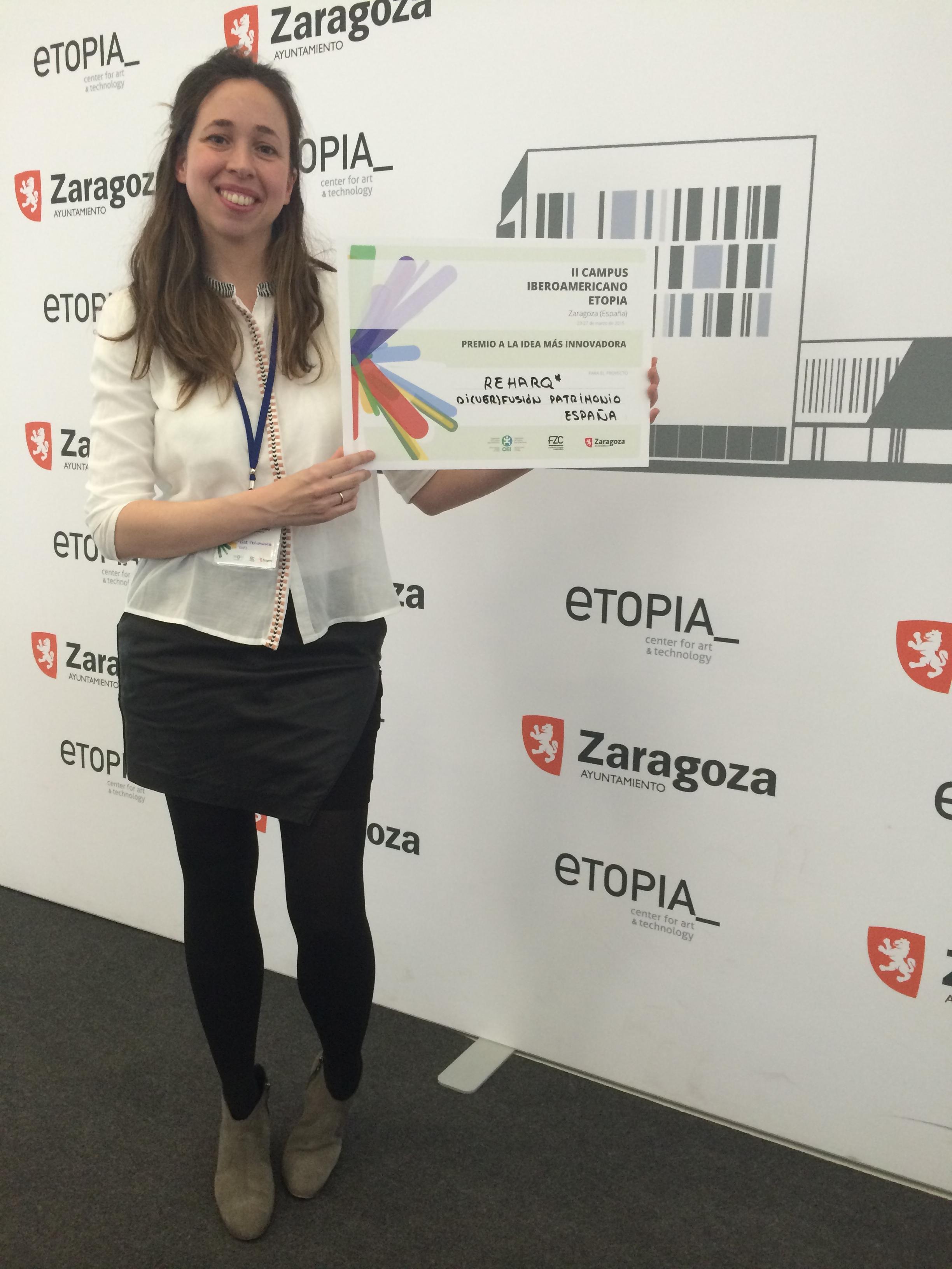 premio idea innovadora_organizacion estados iberoamericanos_campus etopia_reharq