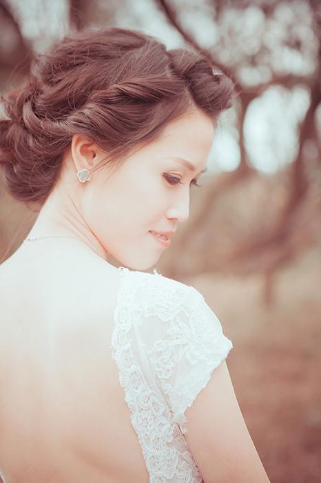 愛瑞思,Ariesy,愛瑞思造型團隊,自助婚紗,深井猴,蓬鬆編髮,歐美風,鮮花造型,清透妝感