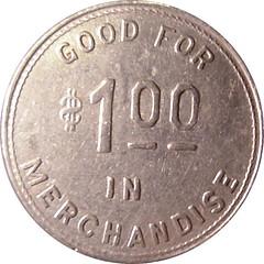 Idaho Insane Asylum $1 token reverse