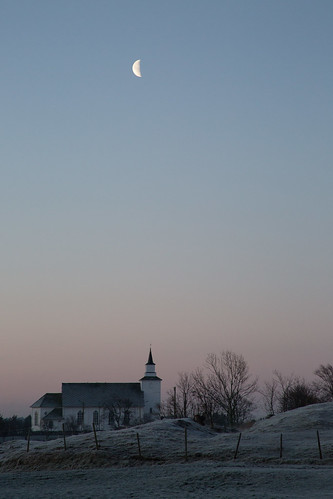 morning sunset moon church norway sunrise haugesund karmøy torvastad torvestad