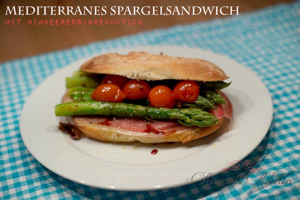 Mediterranes Spargelsandwich