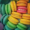 Happy macaron day! #macarons #macarontower #edibleart #macaronstagram #dessert #foodporn #rainbow #raspberry #cremebrulee #lemon #lime #irishcream #nutella #fig #patterns