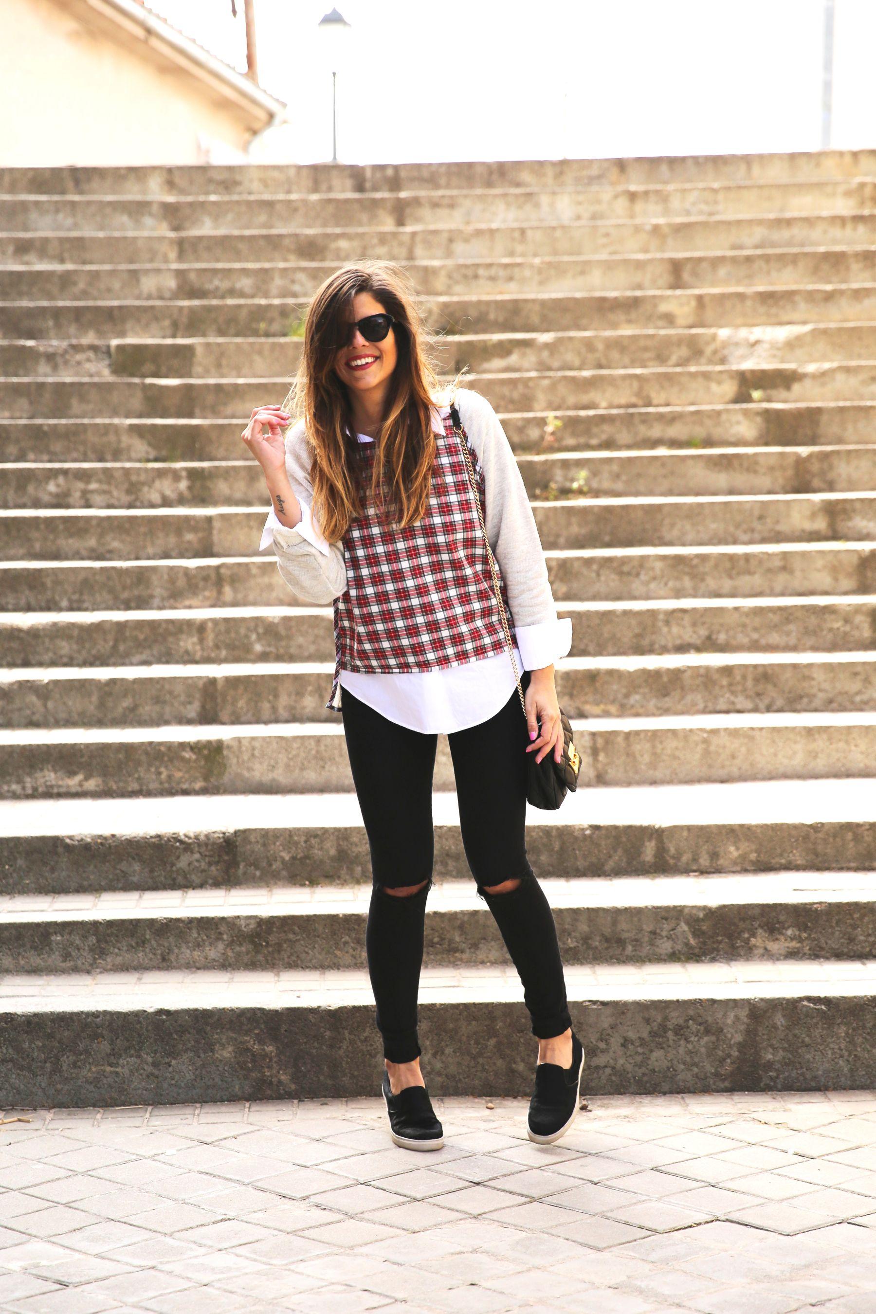 trendy_taste-look-outfit-street_style-ootd-blog-blogger-fashion-spain-moda-españa-steve-madden-plaid-shirt-camisa-cuadros-skinny-jeans-pitillos-negros-5