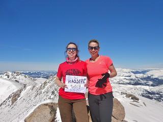 Clare and Sanja on Mt Massive
