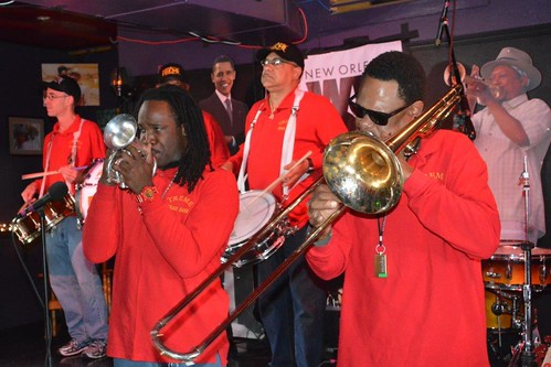 Shamarr Allen with Treme Brass Band at the Mother In Law Lounge. Photo by Kichea S Burt.
