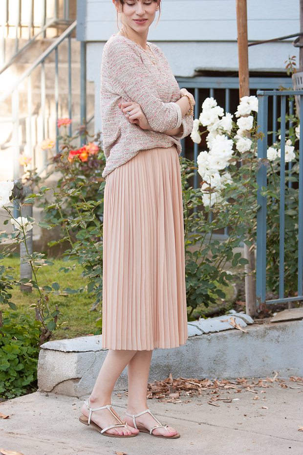 9dc2c39045e2 Blush Pleated Skirt - Jeans and a Teacup