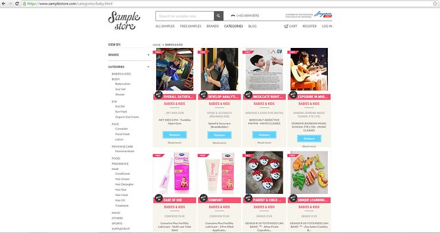 Sample Store baby category