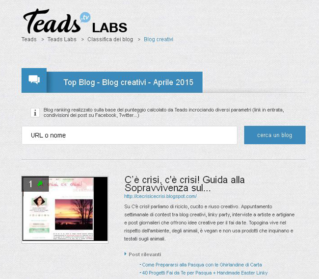 numero-1-tra-i-blog-creativi-in-italia