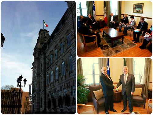 Visita del Embajador de México en Canadá a Quebec