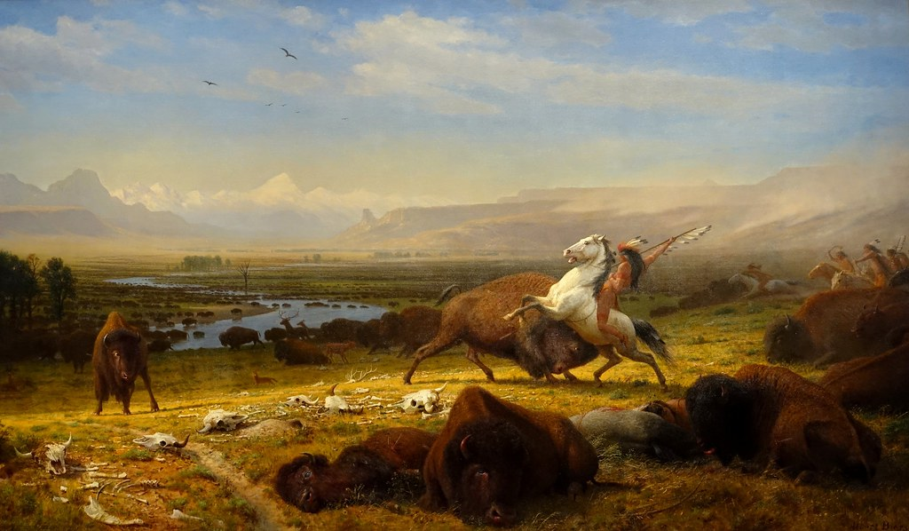 The Last Of The Buffalo By Albert Bierstadt 1888 Nati