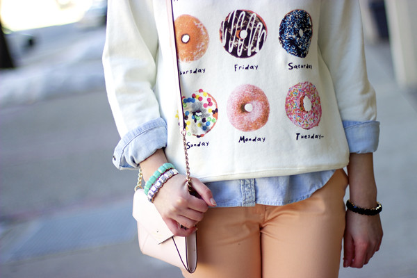 Style Tab, donut sweatshirt, kate spade cedar street monday, Boston fashion blogger