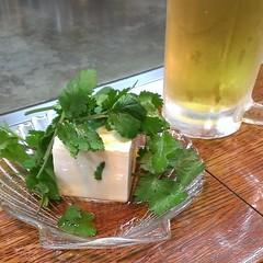 野菜三昧イベント。パクチー豆腐からスタート