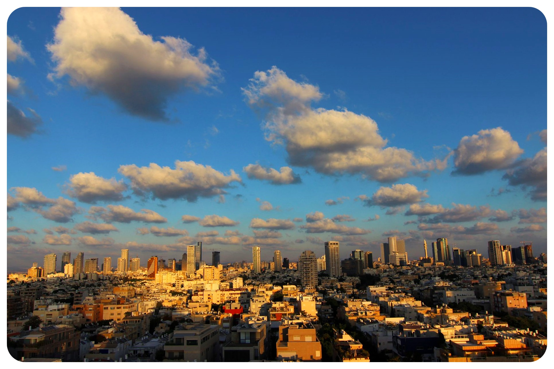 tel aviv city at twilight